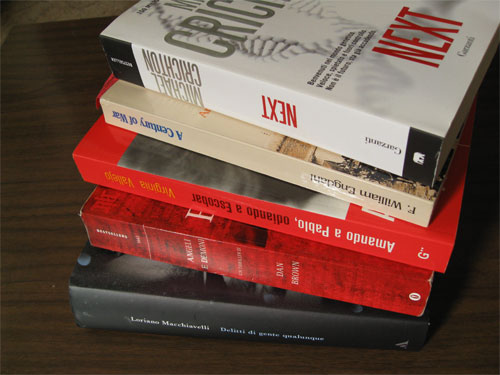 A lot of foreign language publishers print their book spines upside down